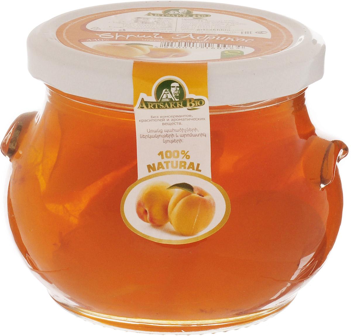 Artsakh Bio варенье из абрикоса, 440 г130211020005Варенье из абрикоса полезно для сердечно-сосудистой системы. Оно улучшает обмен веществ и пищеварение. Абрикосы показаны при желудочных заболеваниях и нарушении обмена веществ. Они мягко, но надолго возбуждают железистый аппарат желудка и нормализуют кислотность желудочного сока, что приводит в норму деятельность поджелудочной железы, а в силу этого улучшается работа печени и желчного пузыря.