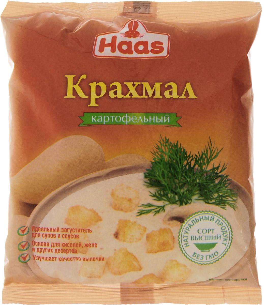 Haas крахмал картофельный, 200 г240041Картофельный крахмал Haas идеально подходит для приготовления киселей, прозрачных супов, соусов и подливок. Также добавляют в хлеб, сдобную выпечку и различные сорта печенья, чтобы придать конечному продукту нужную текстуру, влажность, консистенцию и внешний вид. Кроме того, картофельный крахмал с успехом используется для выпечки фруктовых и творожных тортов благодаря своей способности абсорбировать излишнюю жидкость.