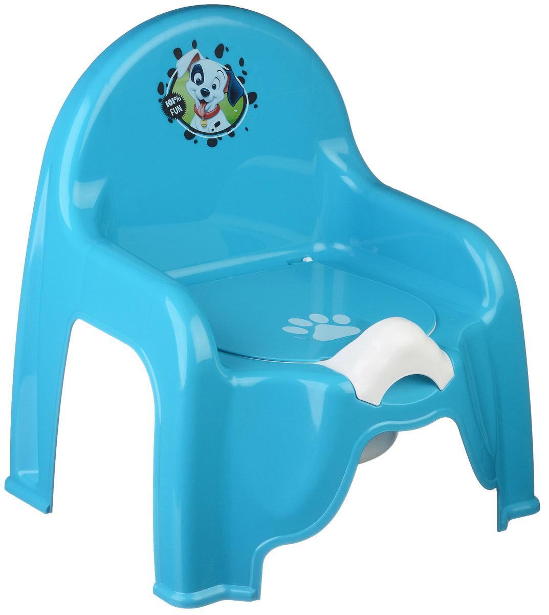 Disney Горшок-стульчик детский цвет бирюзовый М 2596-Д_бирюзовый