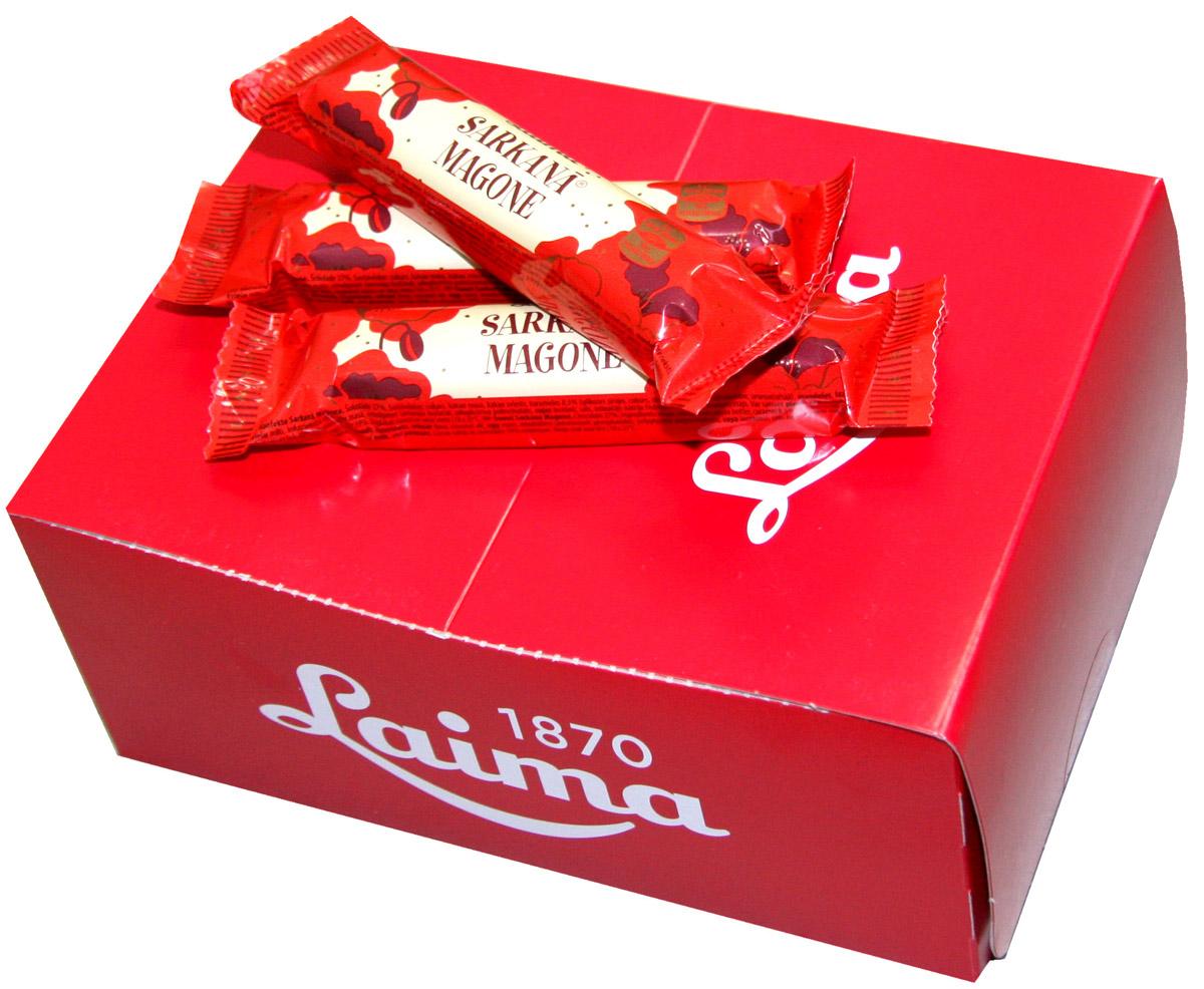 Laima Красный мак Шоколадный батончик, 24 шт по 40 гP130511106Шоколадная крупная конфета-батончик с начинкой с криспами карамели.