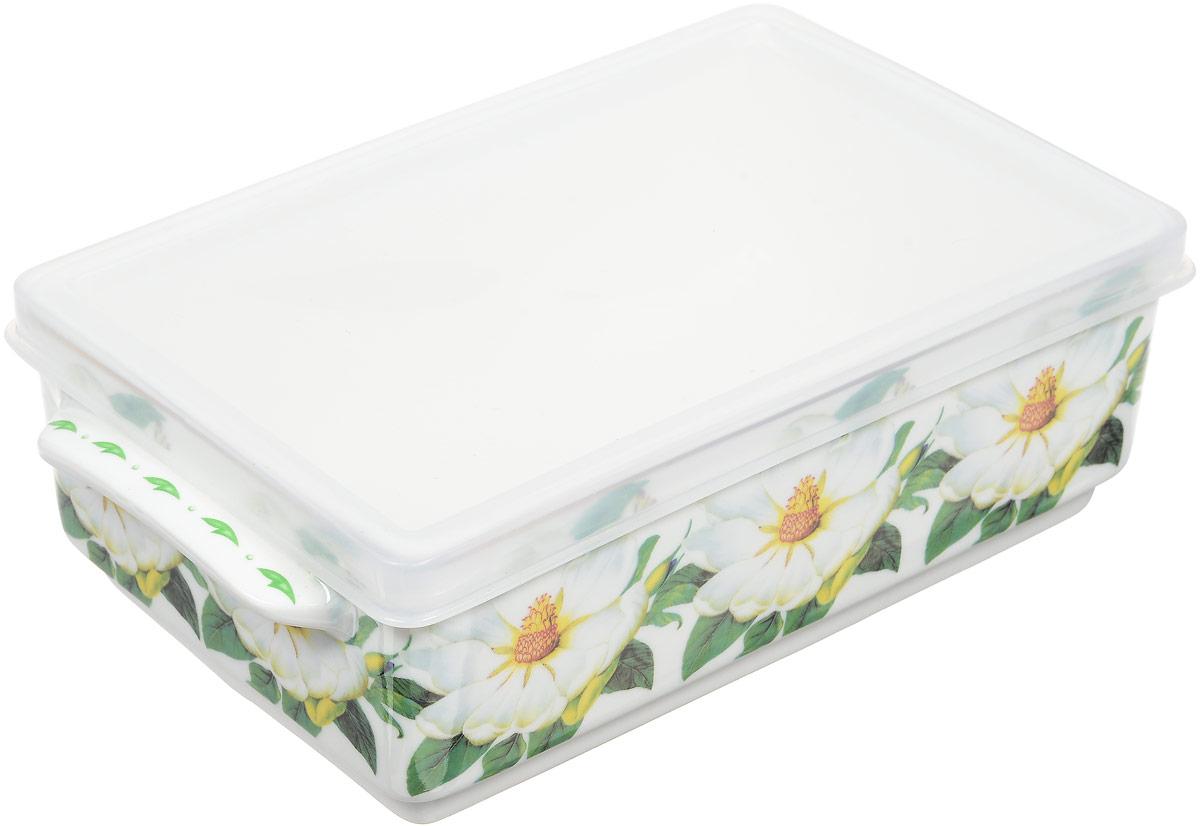 Блюдо для холодца Elan Gallery Белый шиповник, 800 мл504086Блюдо для холодца, изготовленное из высококачественной керамики, предназначено для приготовления и хранения заливного или холодца. Пластиковая крышка, входящая в комплект, сохранит свежесть вашего блюда. Также блюдо можно использовать для приготовления и хранения салатов. Не рекомендуется применять абразивные моющие средства. Не использовать в микроволновой печи.