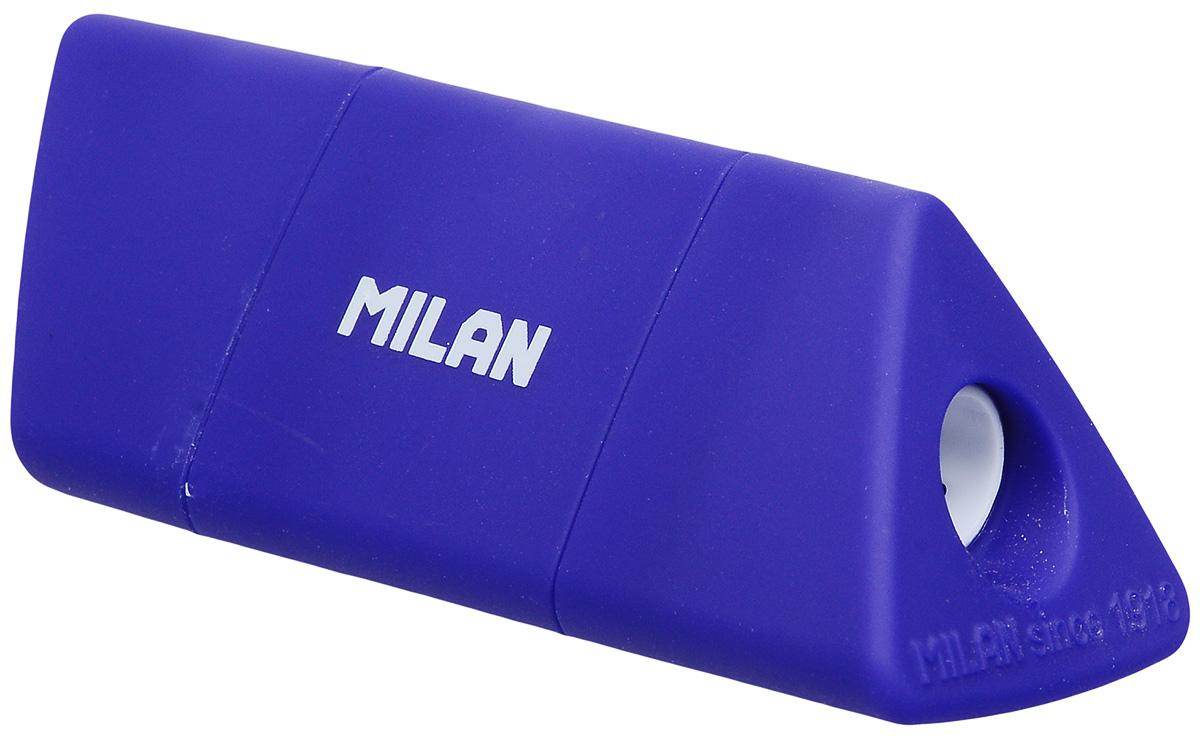 Milan Точилка Slide с контейнером цвет синий20153212_синийУдобная точилка Milan Slide оснащена безопасной системой заточки. Эта система предотвращает отделение лезвия от точилки. Прекрасно подходит для использования в школах. Стальное лезвие острое и устойчиво к повреждению. Идеально подходит для заточки графитовых и цветных карандашей.