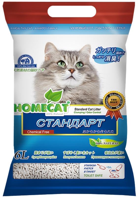 Наполнитель комкующийся HomeCat Эколайн. Стандарт, 6 л63017Наполнитель HomeCat - экологически чистый, безопасный и на 100% биоразлагаемый, изготовленный из растительного сырья комкующийся наполнитель для кошачьих туалетов. С повышенной способностью водопоглощения и блокирования запаха. Безопасен для животного и человека. Поддерживает чистоту кошачьего туалета длительное время, подавляет запах, предотвращает рост бактерий.Обладает повышенным абсорбирующими свойствами, отлично удерживает влагу и запах внутри комка. Легкое удаление комков. Сверхнизкое содержание пыли. Натуральное сырье характеризуется приятной мягкостью и максимальным отсутствием пыли, обеспечивает приятные ощущения для кошачьих лап и органов дыхания. При производстве используется термообработка для уничтожения вредных микроорганизмов. Проходит несколько тестов безопасности. Добавление натуральных ароматизаторов позволяет долго поддерживать приятный аромат наполнителя. Вакуумная упаковка предотвращает появление бактерий и микроорганизмов. Сверхбыстрое образование комка, который...