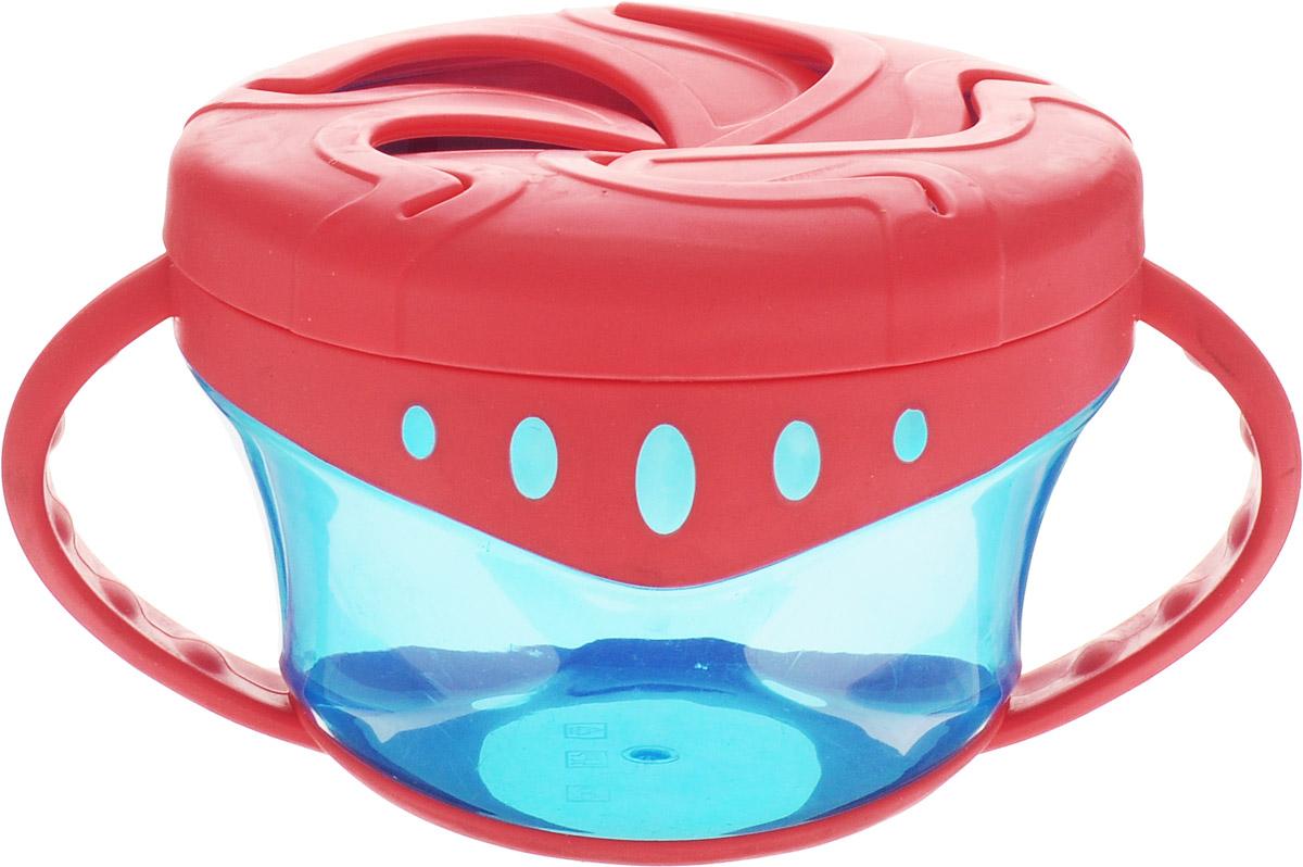 Мир детства Чашка для сухих завтраков от 4 месяцев цвет красный синий17500Чашка для сухих завтраков Мир детства разработана специально для хранения детских закусок: печенья, сушек, сухариков. Пластичные лепестки крышки удерживают содержимое чашки таким образом, чтобы малыш мог легко до него добраться, ничего не просыпав. Прозрачные стенки чашки позволяют контролировать объем оставшейся пищи. Легкая компактная чашка особенно удобна в путешествиях. Подходит для ежедневного использования. Незаменима как дома, так и на прогулках. Запрещено стерилизовать и разогревать в СВЧ-печи. Разрешено мыть в посудомоечной машине только в верхнем отделении. Не содержит Бисфенол-А.