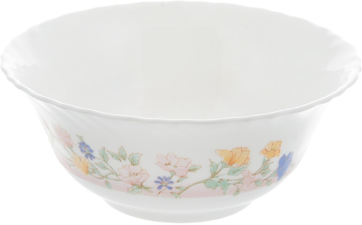 Салатник Luminarc Elise, диаметр 12 см38793Салатник Luminarc Elise, изготовленный из высококачественного стекла, прекрасно впишется в интерьер вашей кухни и станет достойным дополнением к кухонному инвентарю. Салатник оформлен нежным рисунком. Такой салатник не только украсит ваш кухонный стол и подчеркнет прекрасный вкус хозяйки, но и станет отличным подарком. Можно мыть в посудомоечной машине и использовать в микроволновой печи. Диаметр салатника (по верхнему краю): 12 см. Высота стенки: 5 см.
