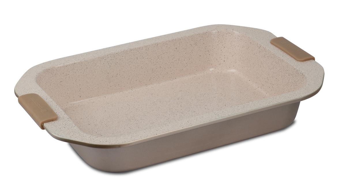 Форма для выпечки Polaris Stone-3223R, 32 x 23 смStone-3223RФорма изготовлена из высококачественной углеродистой стали Высокопрочное антипригарное покрытие Greblon С3. Толщина стенок 0,8 мм. Ручки с силиконовыми вставками не нагреваются. Размеры: 32*23 см