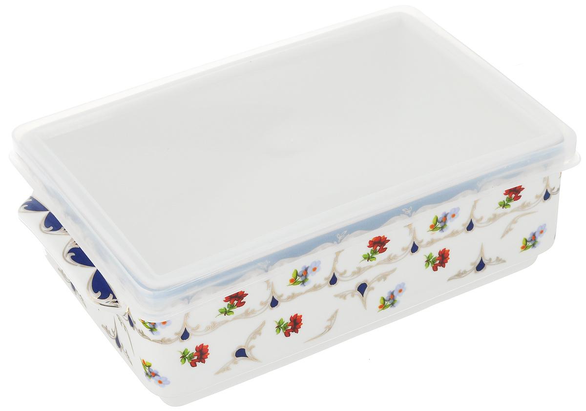 Блюдо для холодца Elan Gallery Цветочек, 800 мл504093Блюдо для холодца Elan Gallery Цветочек, изготовленное из высококачественной керамики, предназначено для приготовления и хранения заливного или холодца. Пластиковая крышка, входящая в комплект, сохранит свежесть вашего блюда. Также блюдо можно использовать для приготовления и хранения салатов. Оформлено изделие оригинальным рисунком. Такое блюдо украсит сервировку вашего стола и подчеркнет прекрасный вкус хозяйки. Не использовать в микроволновой печи. Размер блюда: 20 х 11,5 х 6 см.