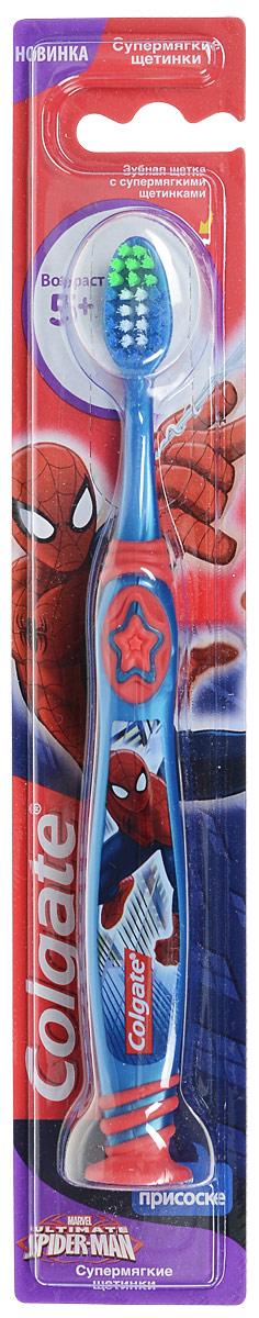 Colgate Зубная щетка Spider-man, детская, с мягкой щетиной, цвет: синий, красныйFCN21494_синий/красныйColgate Зубная щетка Spider-man, детская, с мягкой щетиной, цвет: синий, красный