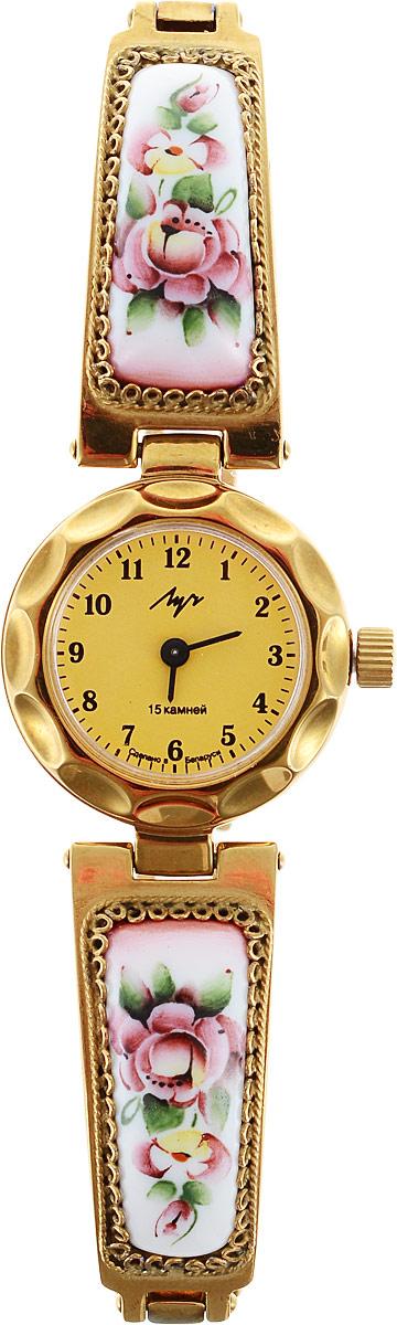 Часы наручные женские Луч Классическая коллекция, цвет: золотой. 8137951581379515Модные часы Луч из Классической коллекции подчеркнут изящность женской руки и отменное чувство стиля у их обладательницы. Часы выполнены из керамики, металла и минерального стекла. Циферблат дополнен символикой бренда. Часы дополнены браслетом со складной застежкой.