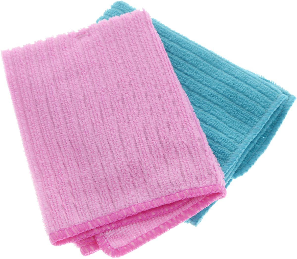 Салфетка из микрофибры Home Queen, цвет: бирюзовый, розовый, 30 х 30 см, 2 шт57048_бирюзовый, розовыйСалфетка Home Queen изготовлена из микрофибры (100% полиэстер). Это великолепная гипоаллергенная ткань, изготовленная из тончайших полимерных микроволокон. Салфетка из микрофибры может поглощать количество пыли и влаги, в 7 раз превышающее ее собственный вес. Многочисленные поры между микроволокнами, благодаря капиллярному эффекту, мгновенно впитывают воду, подобно губке. Благодаря мелким порам микроволокна, любые капельки, остающиеся на чистящей поверхности, очень быстро испаряются, и остается чистая дорожка без полос и разводов. В сухом виде при вытирании поверхности волокна микрофибры электризуются и притягивают к себе микробов, мельчайшие частицы пыли и грязи, удерживая их в своих микропорах. Размер салфетки: 30 х 30 см.