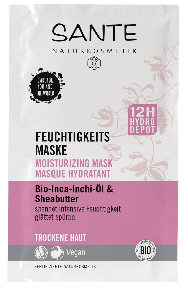 Sante Увлажняющая маска для сухой кожи с маслами Инка-Инчи и Карите, 2х4 мл44038100% Натуральная сертифицированная маска для лица разработана специально для сухой кожи. Запатентованный растительный комплекс DayMoistCLRTM создает запас влаги на 12 часов, обеспечивая длительный увлажняющий эффект! Активные ингредиенты, такие как масло жожоба и алоэ вера, сделают кожу бархатистой, а цвет лица — идеальным.