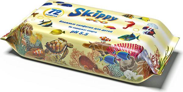 Skippy Влажные салфетки детские Eco 72 шт