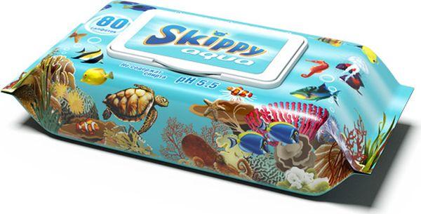 Skippy Влажные салфетки детские Aqua 80 шт