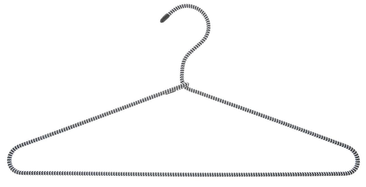 Вешалка для одежды HomeQueen, металлическая, с текстильным покрытием, цвет: черный, белый, длина 40,5 см70698_черный/белыйВешалка для одежды HomeQueen изготовлена из металла с текстильным покрытием, снабжена закругленными плечиками. Вешалка - незаменимая вещь для аккуратного хранения одежды. Размер вешалки: 40,5 х 0,7 х 20 см. Вешалка HomeQueen, металлическая, с текстильным покрытием, цвет: черный,белый, длина 40,5 см