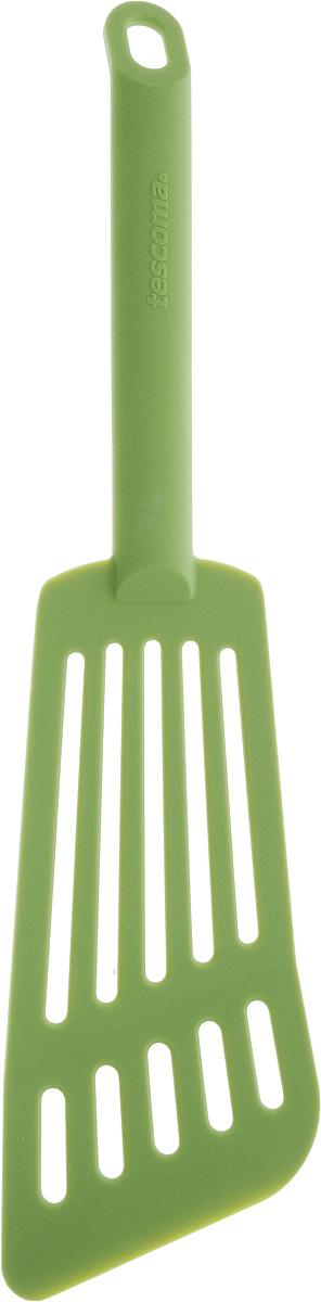 Лопатка для омлета Tescoma Space Tone, цвет: салатовый, длина 30 см638056_салатовыйЛопатка Tescoma Space Tone изготовлена из высококачественного термостойкого нейлона, выдерживающего температуру до 210°С, и предназначена для переворачивания и подачи омлета. Такая кухонная принадлежность подходит для всех видов посуды, а также для посуды с антипригарным покрытием. Лопатка Tescoma Space Tone станет вашим незаменимым помощником на кухне, а также это практичный и необходимый подарок любой хозяйке! Можно мыть в посудомоечной машине. Общая длина лопатки: 30 см. Размер рабочей поверхности: 16 х 7,5 см.
