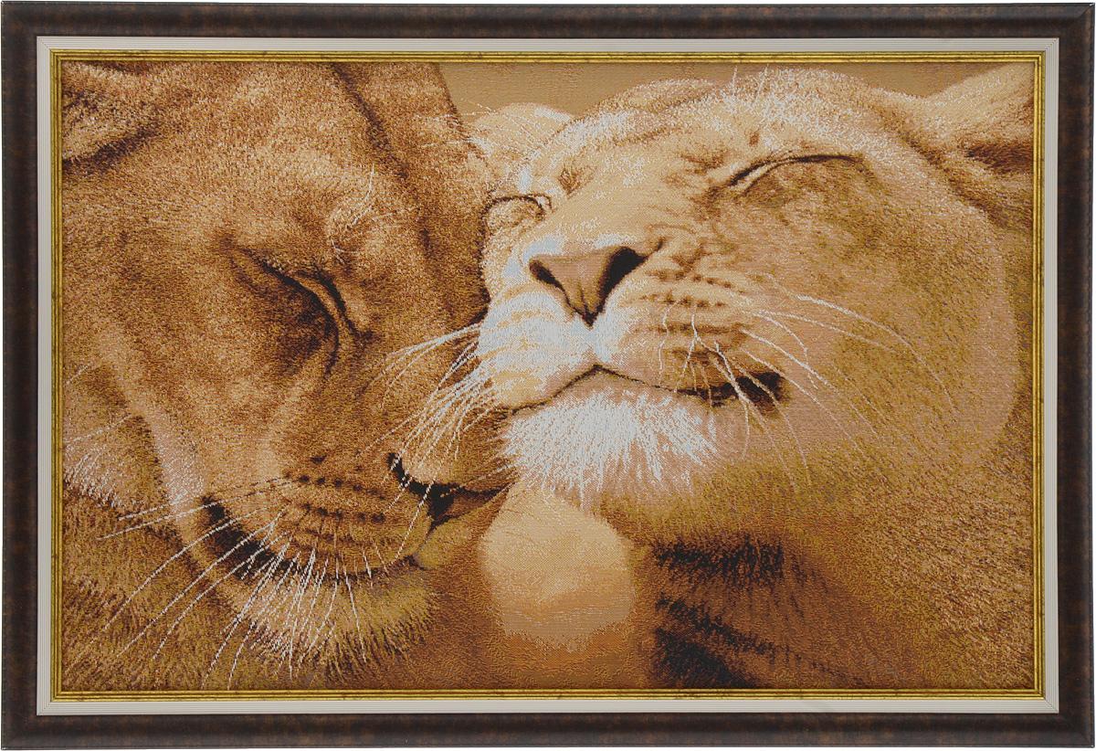 Картина в раме Рапира Любовь, 54 х 37 см5055Гобеленовая картина Рапира Любовь поможет украсить интерьер, придаст обстановке безмятежность и шик. Изделие оформлено в красивую рамку под дерево. Задняя часть картины оснащена двумя петельками для подвешивания. Картина Любовь идеально подойдет к любому интерьеру и станет отличным подарком. Размер картины (без учета рамки): 49 х 32 см.