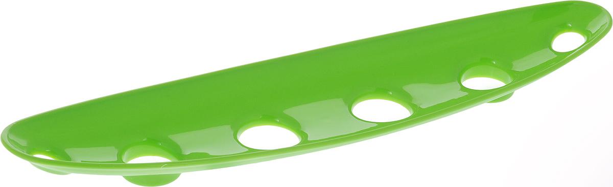 Миска для фруктов и овощей Tescoma Vitamino, продольная, цвет: салатовый, 35 х 8 х 2,5 см642786Продольная миска Tescoma Vitamino выполнена из высококачественного прочного пластика. Изделие прекрасно подходит для хранения свежих овощей и фруктов, например, яблок, груш, слив, мандаринов, помидоров, а также для ополаскивания их под проточной водой. Миска оснащена большими отверстиями для максимального доступа воздуха к хранимым продуктам. Фрукты и овощи в таком изделии дозревают естественным путем и дольше остаются свежими. Подходит для холодильника и посудомоечной машины. Размер миски: 35 х 8 х 2,5 см.