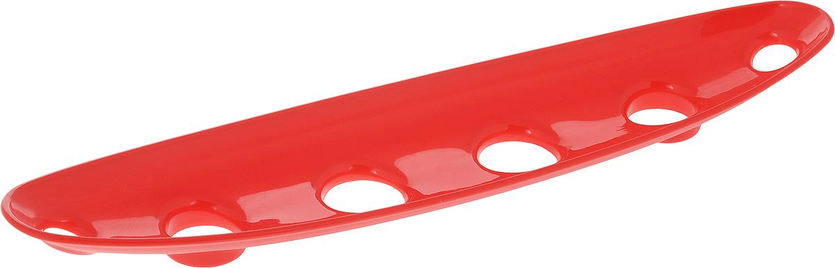 Миска для фруктов и овощей Tescoma Vitamino, продольная, цвет: красный, 35 х 8 х 2,5 см642786_красныйПродольная миска Tescoma Vitamino выполнена из высококачественного прочного пластика. Изделие прекрасно подходит для хранения свежих овощей и фруктов, например, яблок, груш, слив, мандаринов, помидоров, а также для ополаскивания их под проточной водой. Миска оснащена большими отверстиями для максимального доступа воздуха к хранимым продуктам. Фрукты и овощи в таком изделии дозревают естественным путем и дольше остаются свежими. Подходит для холодильника и посудомоечной машины. Размер миски: 35 х 8 х 2,5 см.