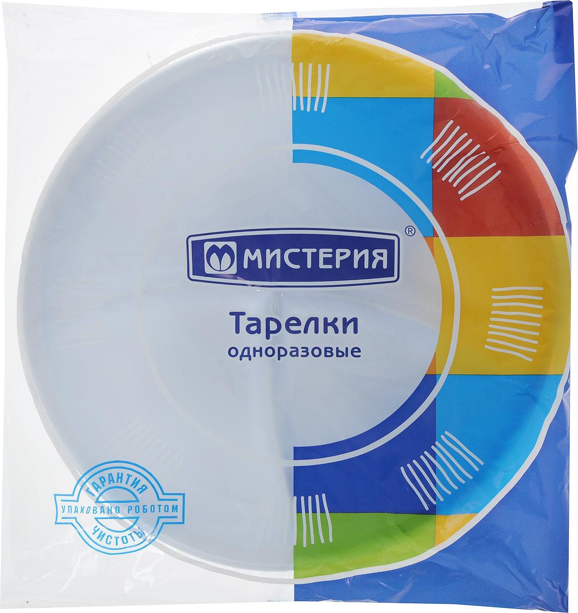 "Набор одноразовых тарелок ""Мистерия"", 3 секции, диаметр 21 см, 12 шт 183480/"