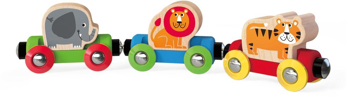 Hape Элемент железной дороги Поезд Веселые животные