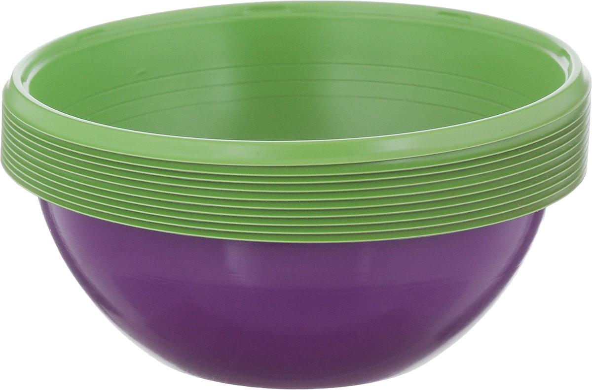 Набор одноразовых салатников Buffet Biсolor, цвет: фиолетовый, зеленый, 380 мл, 10 шт183961_фиолетовый, зеленыйНабор Buffet Biсolor состоит из 10 салатников. Изделия, изготовленные из высококачественной полистирола, сочетают в себе изысканный дизайн с максимальной функциональностью. Одноразовые салатники незаменимы в поездках на природу и на пикниках. Они не займут много места, легки и самое главное - после использования их не надо мыть. Диаметр салатника (по верхнему краю): 12 см. Высота стенки: 4,5 см.