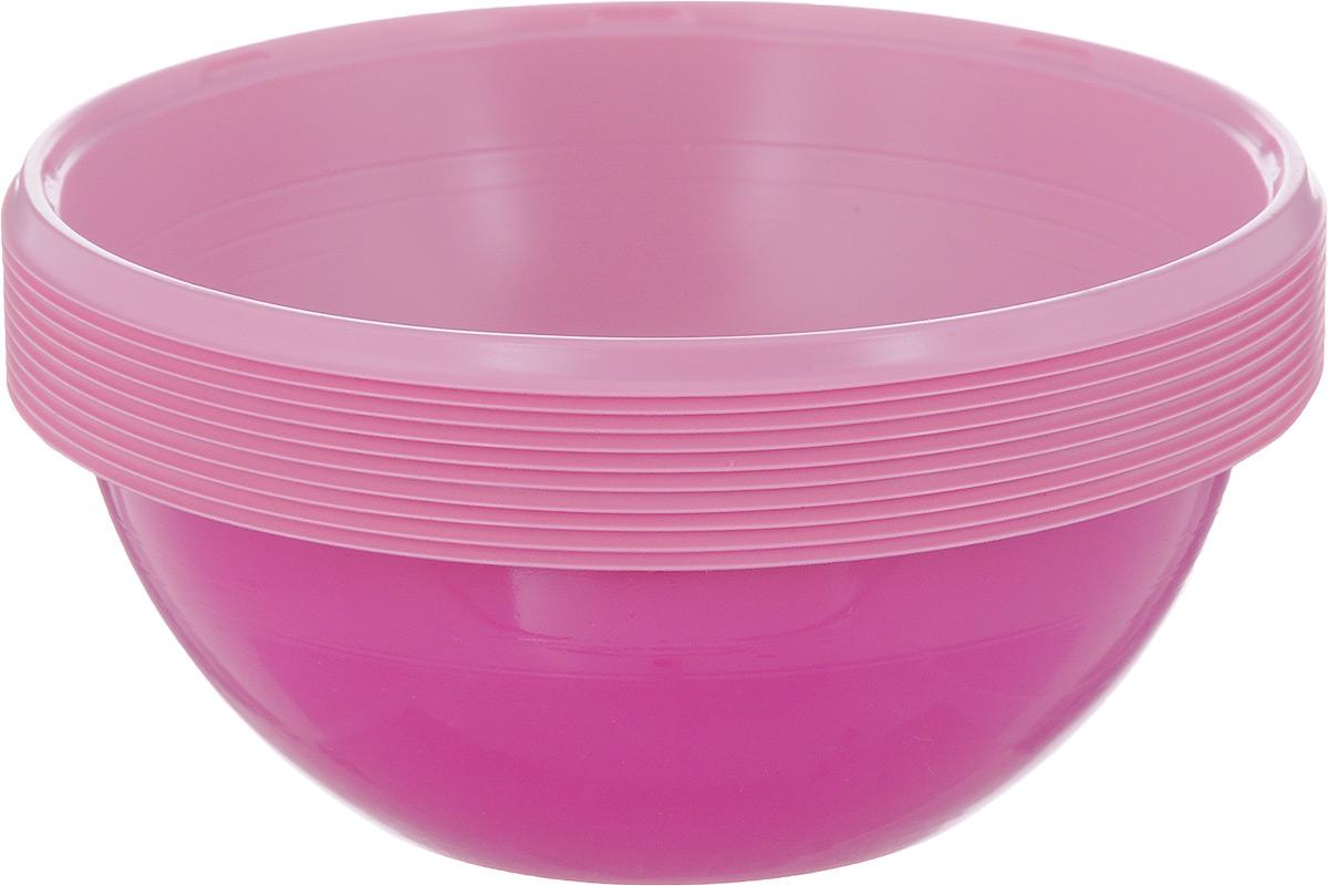 """Набор одноразовых салатников Buffet """"Biсolor"""", цвет: фуксия, розовый, 380 мл, 10 шт 183961_фуксия, розовый"""