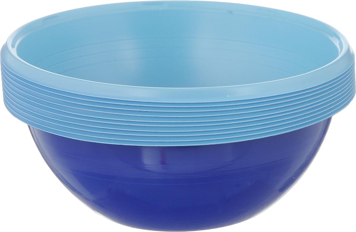 Набор одноразовых салатников Buffet Biсolor, цвет: синий, голубой, 380 мл, 10 шт183961_синий, голубойНабор Buffet Biсolor состоит из 10 салатников. Изделия, изготовленные из высококачественной полистирола, сочетают в себе изысканный дизайн с максимальной функциональностью. Одноразовые салатники незаменимы в поездках на природу и на пикниках. Они не займут много места, легки и самое главное - после использования их не надо мыть. Диаметр салатника (по верхнему краю): 12 см. Высота стенки: 4,5 см.