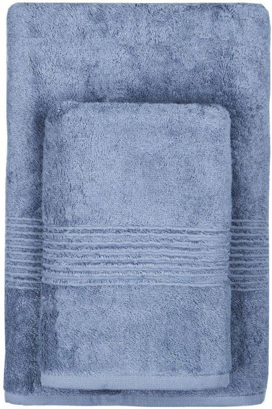 Полотенце махровое TAC Maison Bambu, цвет: синий, 70 x 140 см2999l-89657Полотенца ТАС приятно удивляют и дают возможность почувствовать себя творцом окружающего декора. Махровая ткань – официальное название фроте, народное – махра. Фроте – это натуральная ткань, поверхность которой состоит из ворса (петель основных нитей). Ворс может быть как одинарным (односторонним), так и двойным (двусторонним).