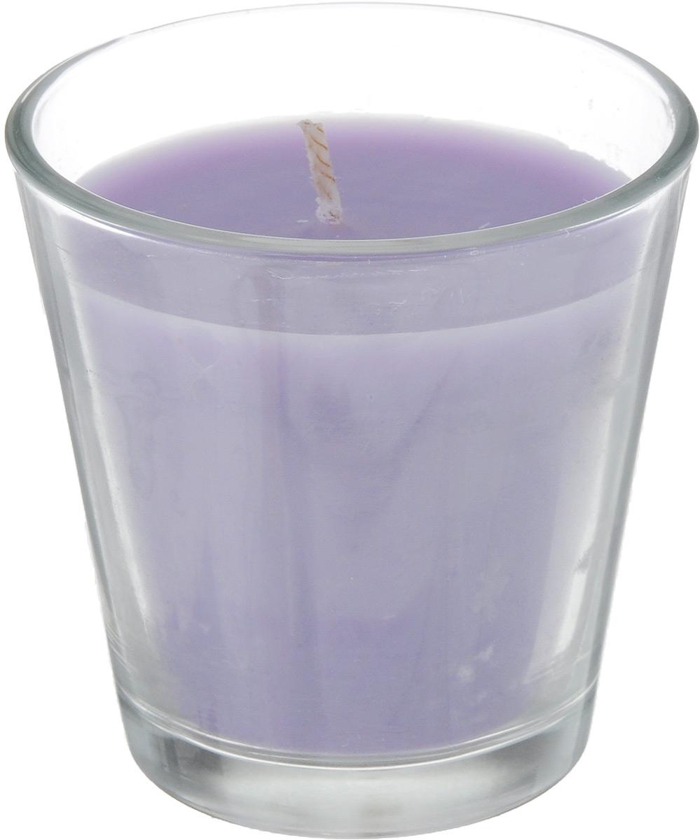 Свеча ароматическая Омский cвечной завод Лаванда, высота 6,5 см337463Ароматизированная свеча Омский cвечной завод Лаванда, изготовленная из парафина, воска и хлопка, поставляется в стеклянном подсвечнике в виде стакана. Изделие отличается оригинальным дизайном и приятным ароматом. Такая свеча может стать отличным подарком или дополнить интерьер вашей комнаты.
