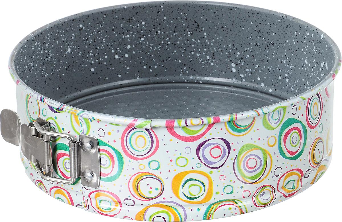 Форма для выпечки Fissman, разъемная, круглая, с антипригарным покрытием, диаметр 22 см. BW-5602BW-5602.22Форма для выпечки Fissman изготовлена из углеродистой стали с антипригарным покрытием TouchStone. Такое покрытие обладает превосходными антипригарными свойствами, не содержит в составе вредных веществ. Оно представляет собой экологически чистый материал, разогретый до вязкого состояния, который напыляется на поверхность формы. Антипригарное покрытие препятствует прилипанию выпечки к стенкам. Форма имеет разъемный механизм, благодаря которому готовый продукт легко вынимается из формы. Металлические стенки посуды быстро распределяют тепло, и выпечка пропекается равномерно. Такая форма найдет свое применение для выпечки большинства кулинарных шедевров, от кексов и тортов до хлеба и пиццы. Не подходит для использования на открытом огне и в СВЧ-печи. Рекомендуется использовать только в духовом шкафу при температуре до +240°С. Не использовать острые приборы, абразивные чистящие средства, металлические щетки. Не рекомендуется мыть в посудомоечной ...
