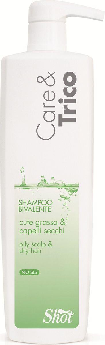 Shot Care and Trico Bivalent Shampoo - Шампунь двойного действия для жирной кожи головы и сухих волос 1000 млSHCT110Специальный шампунь на основе отобранных молекул с электростатическим действием. Глубоко очищает кожу, удаляя излишки кожного сала, и увлажняет волосы по всей длине до самых кончиков.