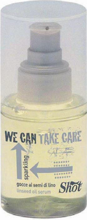 Shot We Can - Капельки семян льна 75 млSHWC112Капельки семян льна для придания блеска Sparkling We Can Shot представляют собой восстанавливающую сыворотку. Этот препарат разработан итальянской компанией Shot. Сыворотка восстанавливает структуру волос, увлажняет волосы и кожные покровы головы, препятствует образованию статического электричества. Прекрасная защита от высокой влажности, а так же защищает волосы от неблагоприятного воздействия окружающей среды. Результат: - при использовании капель из семян льна волосы становятся гладкими, шелковистыми, они прекрасно увлажнены, приобретают здоровый блеск и красивый вид. - Волосы приобретают легкость, отлично расчесываются и укладываются в прическу.