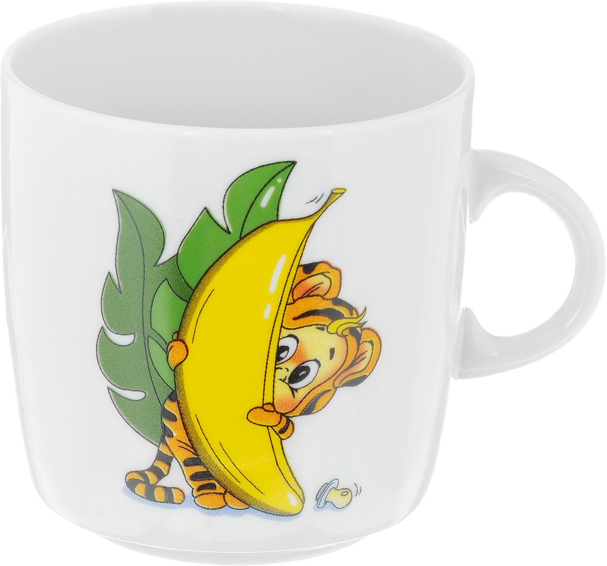 Кружка Фарфор Вербилок Тигрята, 210 мл. 87115208711520_тигренок, бананКружка Фарфор Вербилок Тигрята способна скрасить любое чаепитие. Изделие выполнено из высококачественного фарфора. Посуда из такого материала позволяет сохранить истинный вкус напитка, а также помогает ему дольше оставаться теплым. Диаметр кружки (по верхнему краю): 7 см. Высота кружки: 7,5 см.