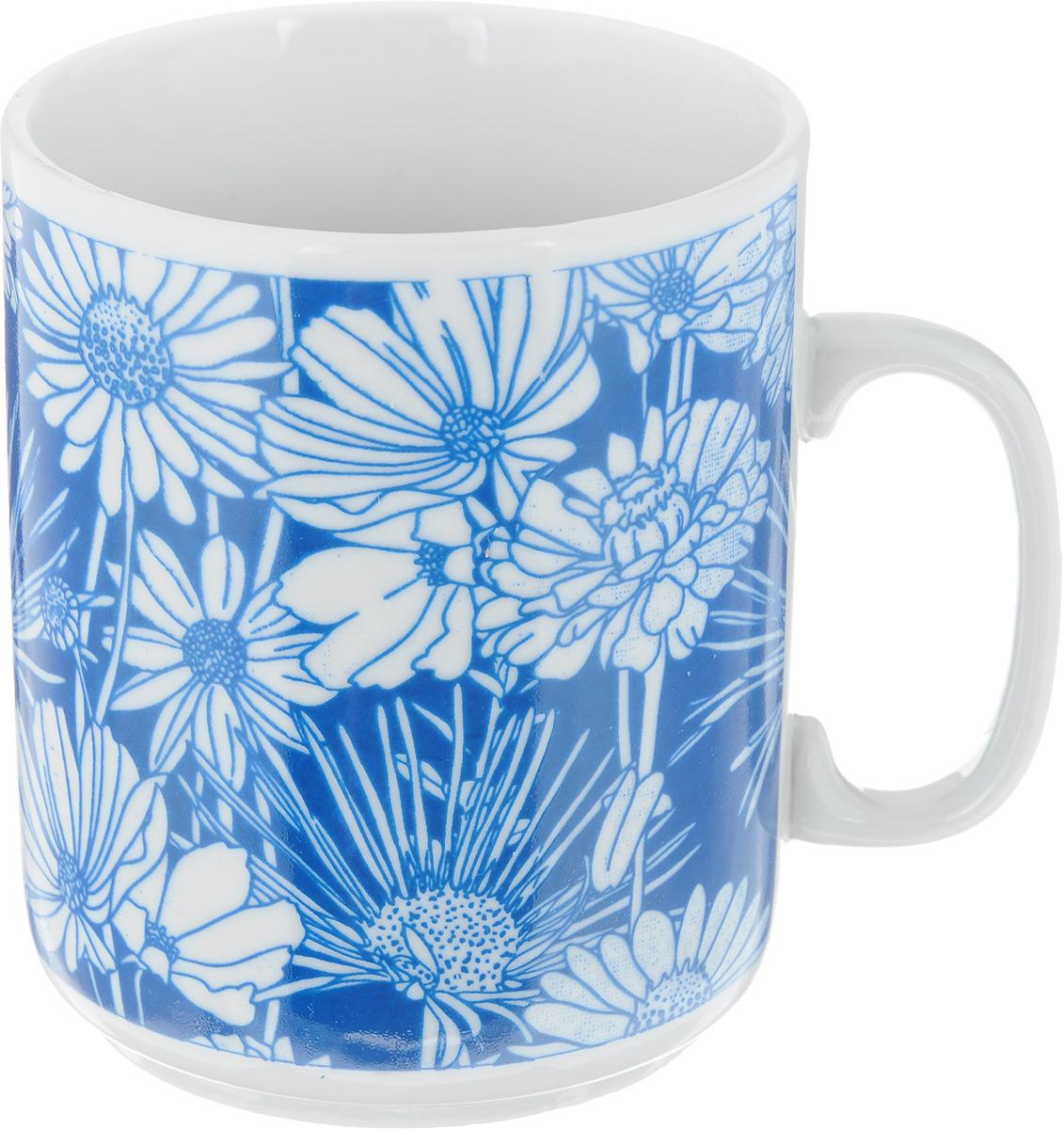 Кружка Фарфор Вербилок Цветочная поляна, цвет: темно-синий, 300 мл9273960_темно-синийКружка Фарфор Вербилок Цветочная поляна способна скрасить любое чаепитие. Изделие выполнено из высококачественного фарфора. Посуда из такого материала позволяет сохранить истинный вкус напитка, а также помогает ему дольше оставаться теплым. Диаметр кружки (по верхнему краю): 8 см. Высота кружки: 9,5 см.