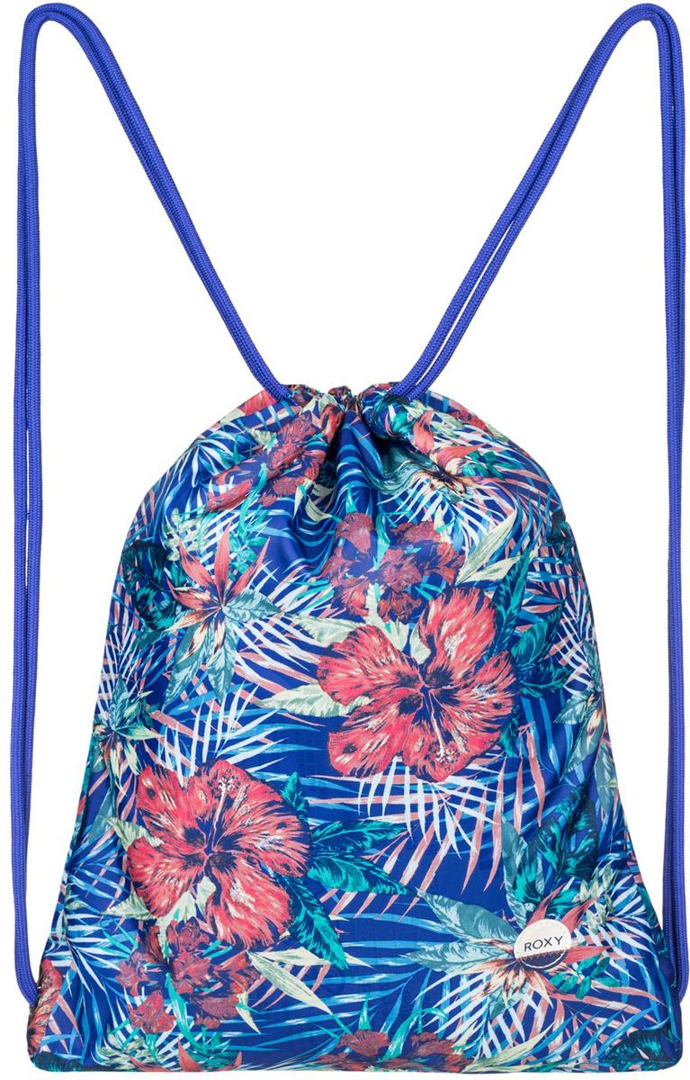 Рюкзак женский Roxy Light As a Feat, цвет: голубой. ERJBP03394-PQF6ERJBP03394-PQF6Женский рюкзак выполнен из текстиля. Модель с одним отделением, застегивается при помощи затягивающегося шнурка. Изделие оснащено тонкими плечевыми лямками.