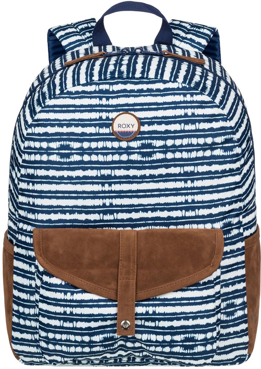 Рюкзак женский Roxy Carribean, цвет: синий. ERJBP03399-BTA3ERJBP03399-BTA3Женский рюкзак Roxy выполнен из текстиля. У модели одно основное отделение. Передний карман на молнии. Рюкзак с регулируемыми по длине плечевыми лямками и петлей для подвешивания.