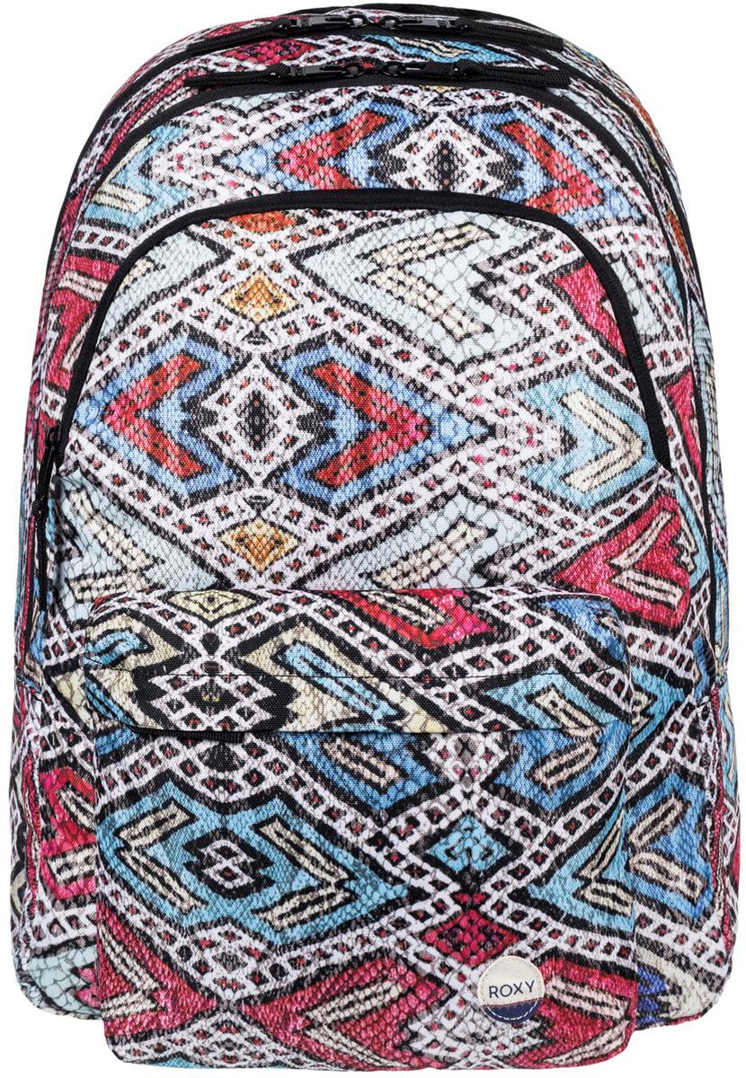 Рюкзак городской женский Roxy Slow Emotion, цвет: синий, красный, 24 л. ERJBP03402-BLA6ERJBP03402-BLA6