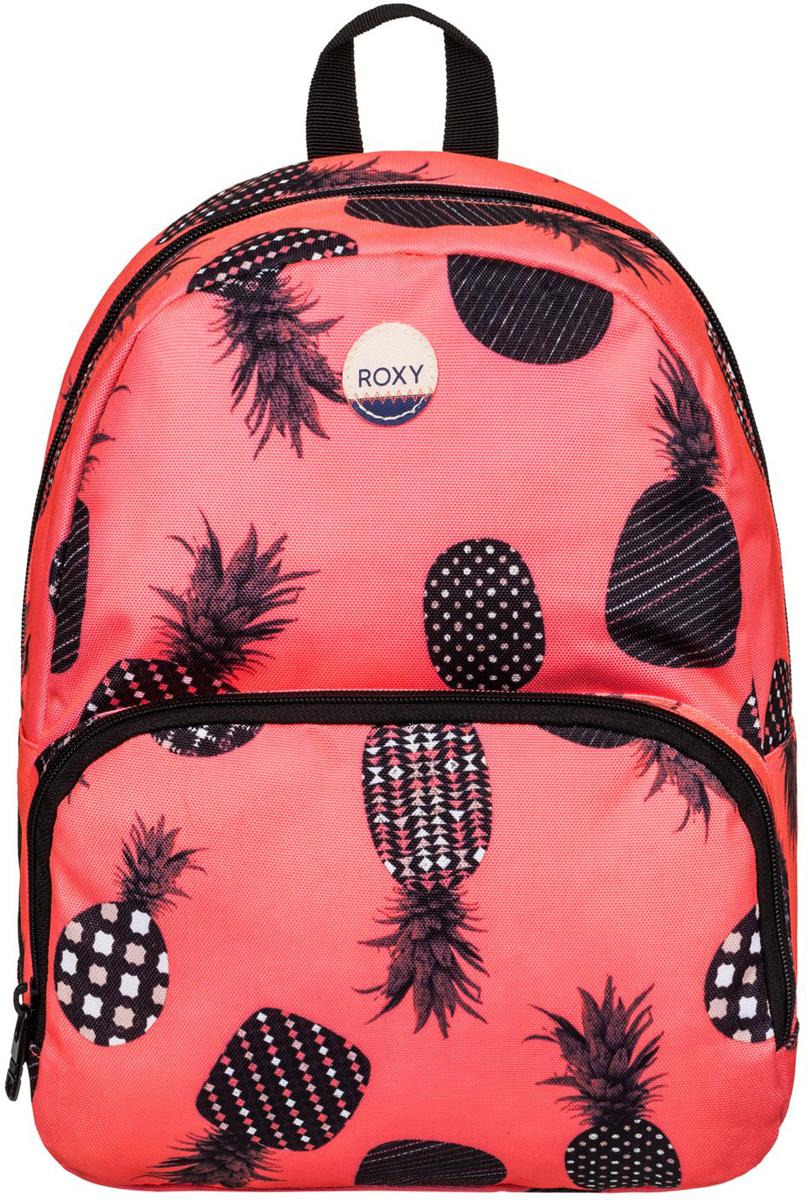 Рюкзак женский Roxy Always Core, цвет: оранжевый. ERJBP03403-NKN6ERJBP03403-NKN6Женский рюкзак Roxy выполнен из текстиля. У модели одно основное отделение. Передний карман на молнии. Рюкзак с регулируемыми набивными заплечными ремнями.