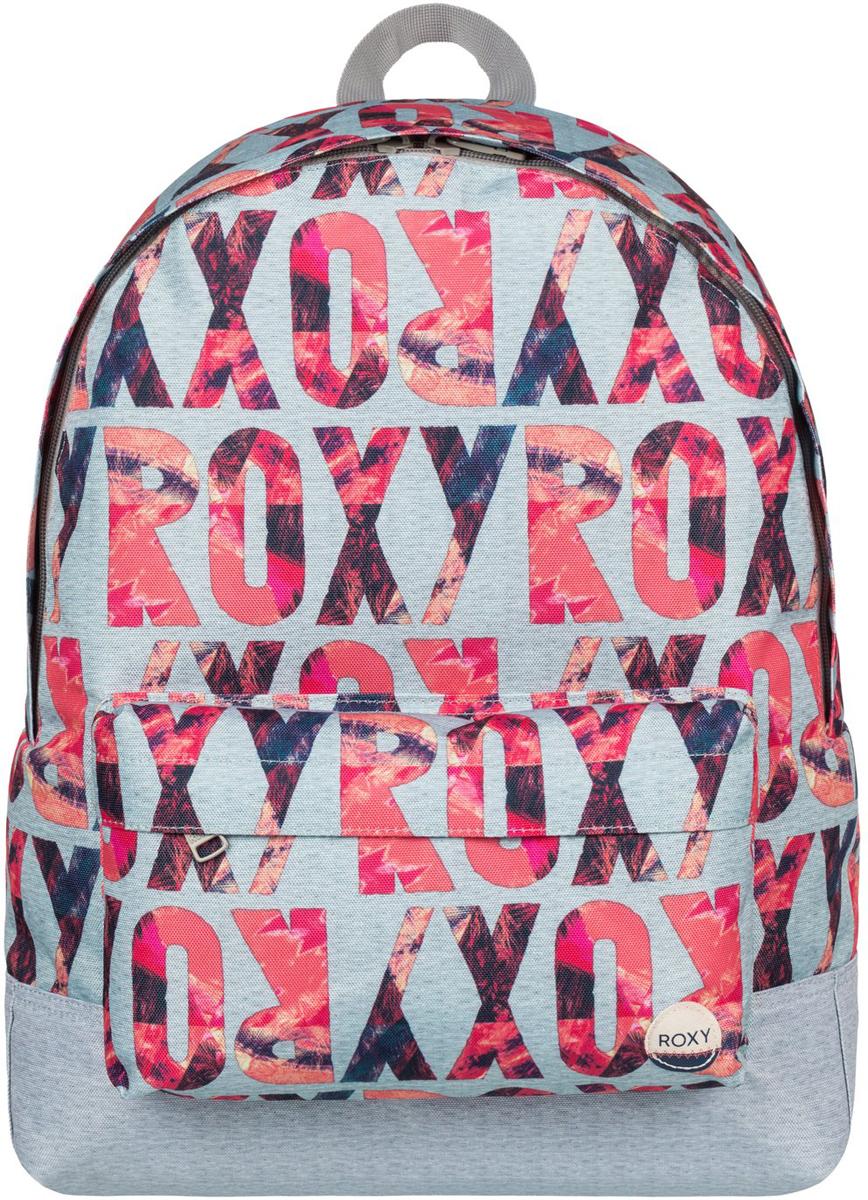 Рюкзак городской женский Roxy Sugar Baby, цвет: серый, розовый, 16 л. ERJBP03406-SGR6ERJBP03406-SGR6