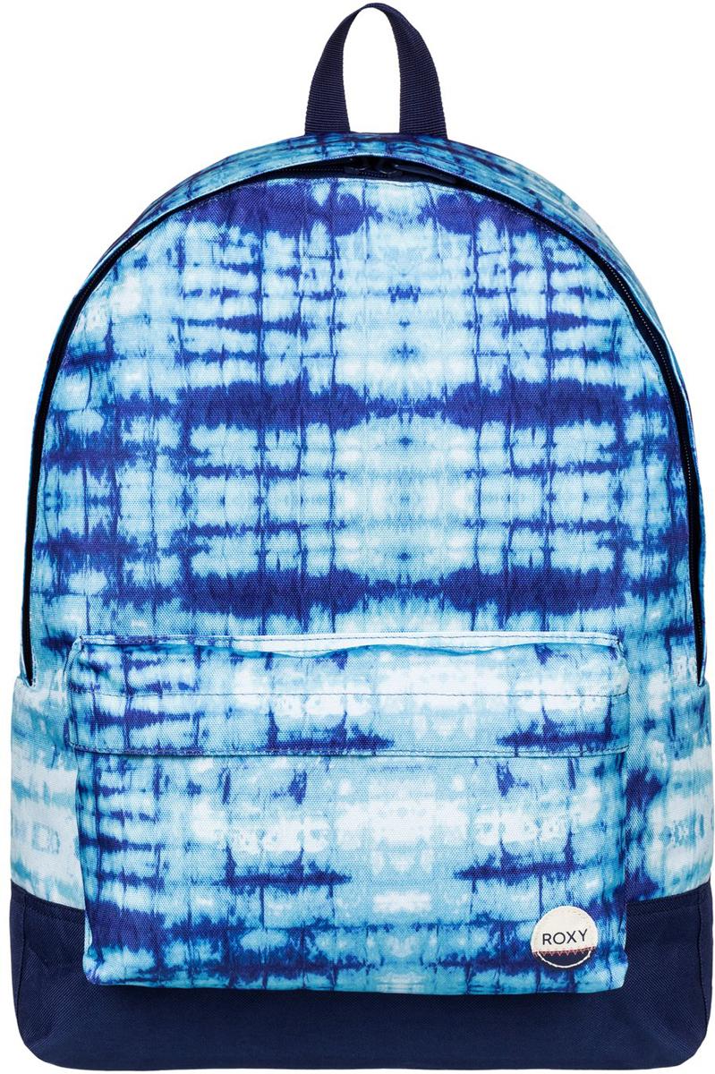 Рюкзак женский Roxy Sugar Baby, цвет: голубой. ERJBP03406-WBT7ERJBP03406-WBT7Женский рюкзак Roxy выполнен из текстиля. У модели одно основное отделение. Передний карман на молнии. Рюкзак с регулируемыми по длине плечевыми лямками и петлей для подвешивания.