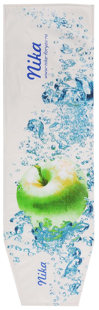 Чехол для гладильной доски Nika Яблоко, универсальный, с поролоном, 129 х 40 смЧП1_яблокоУниверсальный чехол Nika Яблоко, выполненный из высококачественной бязи (100% хлопок), продлит срок службы вашей гладильной доски. Изделие снабжено подкладкой из поролона и стягивающим шнуром, при помощи которого вы легко отрегулируете оптимальное натяжение. Чехол оформлен красивым рисунком, что оживит внешний вид вашей гладильной доски. Размер чехла: 129 х 40 см. Максимальный размер доски: 125 х 36 см.