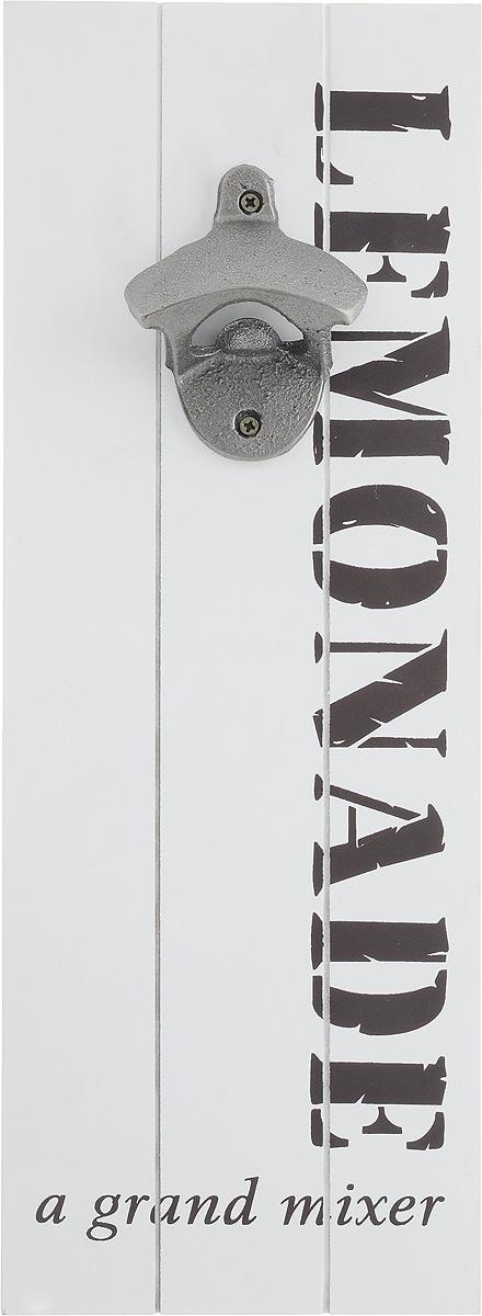 Открывалка для бутылок Miralight, декоративная, цвет: белый, 35,5 х 13 х 4 смML-3978 Открывалка для бутылок декоративнаяДекоративная открывалка для бутылок Miralight, изготовленная из металла, МДФ и полирезина, предназначена для украшения интерьера. Изделие выполнено в виде панели с надписями. На оборотной стороне имеется петля для подвешивания на стену. Также такая открывалка поможет вам без труда открыть любую бутылку. Этот оригинальный аксессуар станет оригинальным подарком для близких. Размер открывалки: 35,5 х 13 х 4 см.
