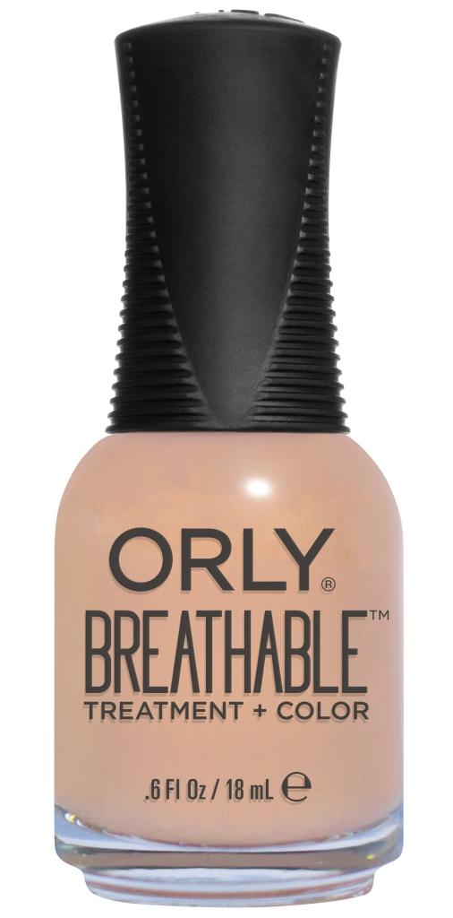 Orly Профессиональный дышащий уход (цвет) за ногтями 907 NOURISHING NUDE 18 мл20907Бренд ORLY разработал первый профессиональный цветной дышащий уход за ногтями BREATHABLE. Инновационная дышащая технология BREATHABLE создаёт на ногте проницаемую пленку, позволяющую кислороду, влаге и активным ингредиентам препарата достигать поверхности ногтя. BREATHABLE от ORLY — уход и цвет в одном флаконе! Преимущества BREATHABLE от ORLY: 1. Способствует росту и укреплению ногтей благодаря дышащей технологии и формуле с аргановым маслом, витамином С и провитамином В5. 2. Формула «Все в одном» позволяет наносить BREATHABLE без использования базового и верхнего покрытий. 3. Запатентованная плоская кисть для удобного нанесения. · 4. Стойкость. Палитра BREATHABLE от ORLY — это роскошные оттенки и прозрачный блеск-уход для ультраглянца. Стильный маникюр и профессиональный уход – это новинка BREATHABLE от ORLY!