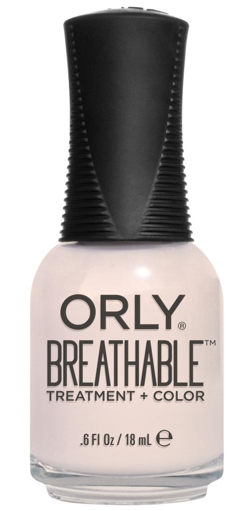 Orly Профессиональный дышащий уход (цвет) за ногтями 908 BARELY THERE 18 мл20908Бренд ORLY разработал первый профессиональный цветной дышащий уход за ногтями BREATHABLE. Инновационная дышащая технология BREATHABLE создаёт на ногте проницаемую пленку, позволяющую кислороду, влаге и активным ингредиентам препарата достигать поверхности ногтя. BREATHABLE от ORLY — уход и цвет в одном флаконе! Преимущества BREATHABLE от ORLY: 1. Способствует росту и укреплению ногтей благодаря дышащей технологии и формуле с аргановым маслом, витамином С и провитамином В5. 2. Формула «Все в одном» позволяет наносить BREATHABLE без использования базового и верхнего покрытий. 3. Запатентованная плоская кисть для удобного нанесения. · 4. Стойкость. Палитра BREATHABLE от ORLY — это роскошные оттенки и прозрачный блеск-уход для ультраглянца. Стильный маникюр и профессиональный уход – это новинка BREATHABLE от ORLY!