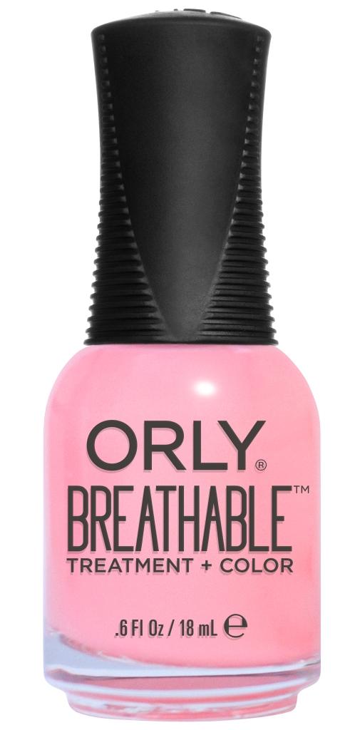 Orly Профессиональный дышащий уход (цвет) за ногтями 910 HAPPY & HEALTHY 18 мл20910Бренд ORLY разработал первый профессиональный цветной дышащий уход за ногтями BREATHABLE. Инновационная дышащая технология BREATHABLE создаёт на ногте проницаемую пленку, позволяющую кислороду, влаге и активным ингредиентам препарата достигать поверхности ногтя. BREATHABLE от ORLY — уход и цвет в одном флаконе! Преимущества BREATHABLE от ORLY: 1. Способствует росту и укреплению ногтей благодаря дышащей технологии и формуле с аргановым маслом, витамином С и провитамином В5. 2. Формула «Все в одном» позволяет наносить BREATHABLE без использования базового и верхнего покрытий. 3. Запатентованная плоская кисть для удобного нанесения. · 4. Стойкость. Палитра BREATHABLE от ORLY — это роскошные оттенки и прозрачный блеск-уход для ультраглянца. Стильный маникюр и профессиональный уход – это новинка BREATHABLE от ORLY!