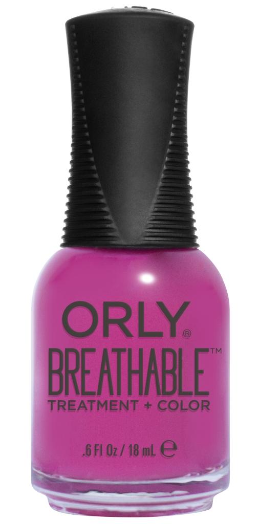 Orly Профессиональный дышащий уход (цвет) за ногтями 915 GIVE ME A BREAK 18 мл20915Бренд ORLY разработал первый профессиональный цветной дышащий уход за ногтями BREATHABLE. Инновационная дышащая технология BREATHABLE создаёт на ногте проницаемую пленку, позволяющую кислороду, влаге и активным ингредиентам препарата достигать поверхности ногтя. BREATHABLE от ORLY — уход и цвет в одном флаконе! Преимущества BREATHABLE от ORLY: 1. Способствует росту и укреплению ногтей благодаря дышащей технологии и формуле с аргановым маслом, витамином С и провитамином В5. 2. Формула «Все в одном» позволяет наносить BREATHABLE без использования базового и верхнего покрытий. 3. Запатентованная плоская кисть для удобного нанесения. · 4. Стойкость. Палитра BREATHABLE от ORLY — это роскошные оттенки и прозрачный блеск-уход для ультраглянца. Стильный маникюр и профессиональный уход – это новинка BREATHABLE от ORLY!