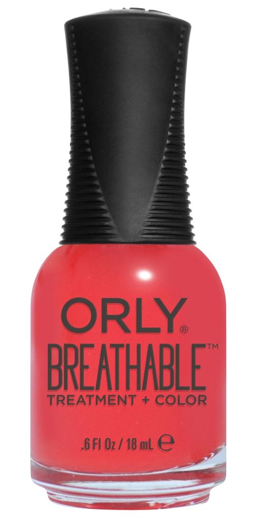 Orly Профессиональный дышащий уход (цвет) за ногтями 916 BEAUTY ESSENTIAL 18 мл20916Бренд ORLY разработал первый профессиональный цветной дышащий уход за ногтями BREATHABLE. Инновационная дышащая технология BREATHABLE создаёт на ногте проницаемую пленку, позволяющую кислороду, влаге и активным ингредиентам препарата достигать поверхности ногтя. BREATHABLE от ORLY — уход и цвет в одном флаконе! Преимущества BREATHABLE от ORLY: 1. Способствует росту и укреплению ногтей благодаря дышащей технологии и формуле с аргановым маслом, витамином С и провитамином В5. 2. Формула «Все в одном» позволяет наносить BREATHABLE без использования базового и верхнего покрытий. 3. Запатентованная плоская кисть для удобного нанесения. · 4. Стойкость. Палитра BREATHABLE от ORLY — это роскошные оттенки и прозрачный блеск-уход для ультраглянца. Стильный маникюр и профессиональный уход – это новинка BREATHABLE от ORLY!