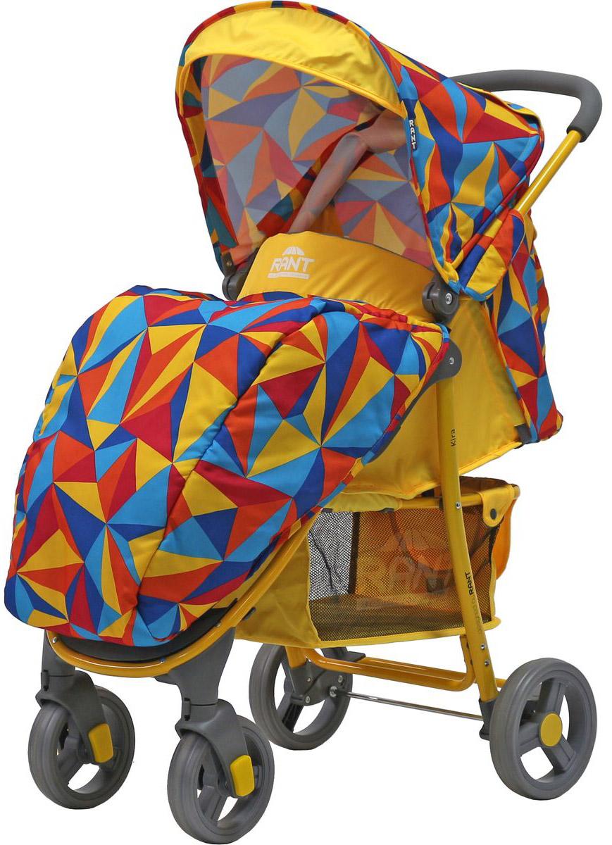 Rant Коляска прогулочная Kira Origami цвет желтый
