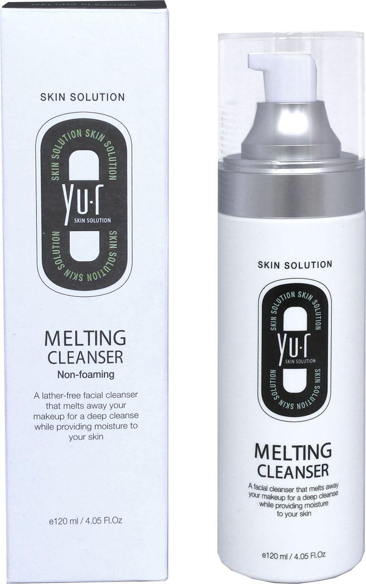 Yu.R, Тающий очищающий гель для снятия макияжа, Melting Cleanser, 120 мл8809290736147Тающий, очищающая пенка для снятия макияжа – это инновационное средство очищения кожи. Пенка не содержит мыла, при этом он эффективно и деликатно удаляет загрязнения, остатки макияжа и омертвевшие клетки, не лишая кожу защитного слоя, и поддерживая ее естественный рН баланс. Пенка не пересушивает кожу и не оставляет ощущения стянутости, что особенно важно для обладательниц чувствительной кожи лица. Достаточно лишь нанести гель на лицо и дождаться, когда он полностью растворит загрязнения.