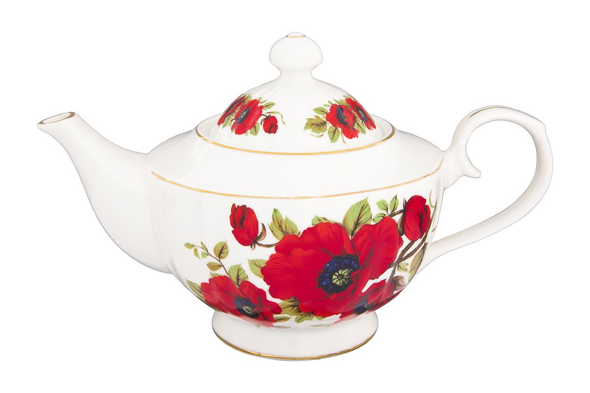 Чайник заварочный Elan Gallery Маки, 1,1 л740282Изысканный заварочный чайник украсит сервировку стола к чаепитию. Благодаря красивому утонченному дизайну и качеству исполнения он станет хорошим подарком друзьям и близким. Объем 1100 мл. Изделие в подарочной упаковке.